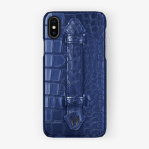Alligator Finger Case iPhone X/Xs | Navy Blue - Black without-personalization
