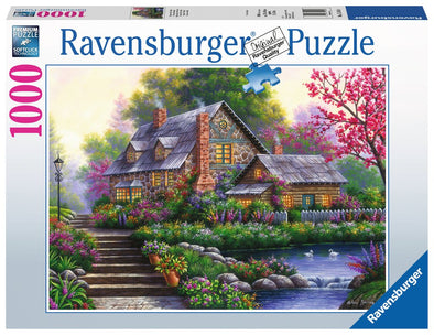 Ravensburger Romantic Cottage 1000 piece puzzle