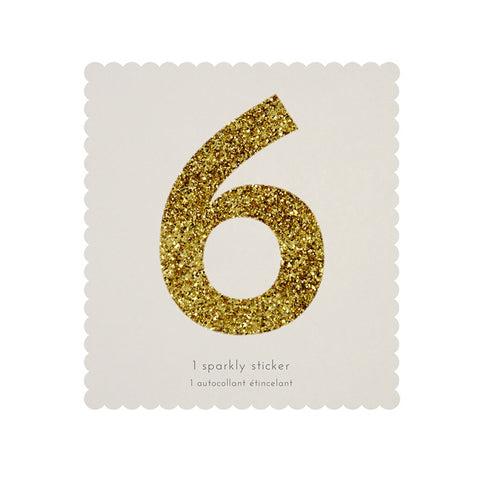 Gold Glitter Sticker - 6