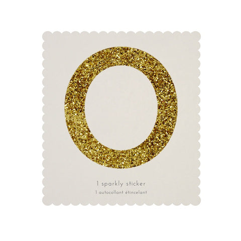 Gold Glitter Sticker - 0