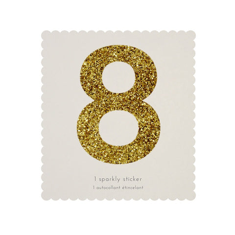 Gold Glitter Sticker - 8