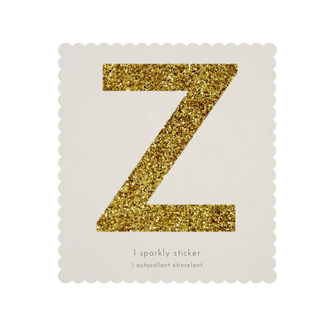 Gold Glitter Sticker - Z