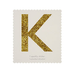 Gold Glitter Sticker - K