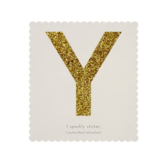 Gold Glitter Sticker - Y