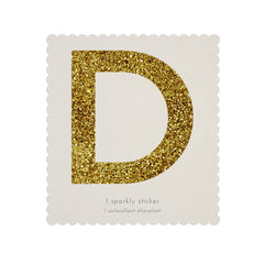 Gold Glitter Sticker - D