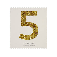 Gold Glitter Sticker - 5
