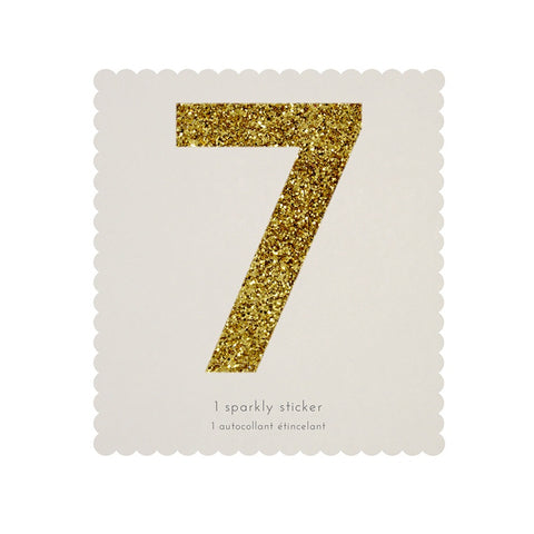 Gold Glitter Sticker - 7