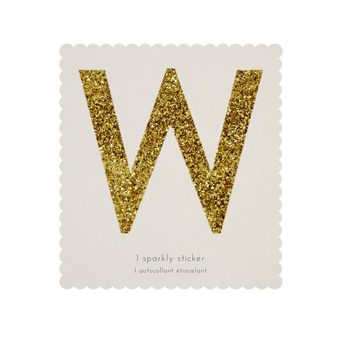 Gold Glitter Sticker - W