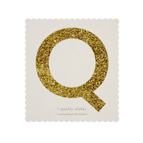 Gold Glitter Sticker - Q