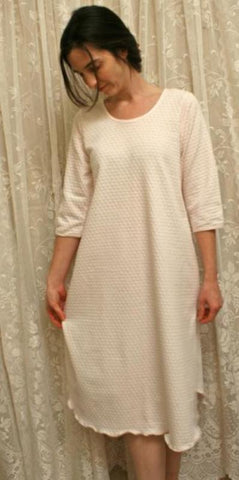 3/4 Sleeve 3/4 Length Gown Dot Collection - Simple Pleasures, Inc.