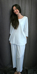 3/4 Sleeve Long Top & Palazzos Interlock Collection - Simple Pleasures, Inc.