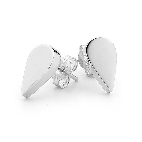 Sterling Silver 'Baby Drop' Stud Earrings
