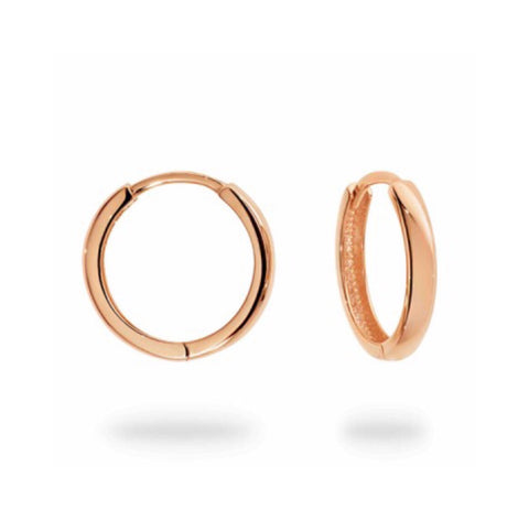 Medium Rose Gold hinged Huggie Hoops
