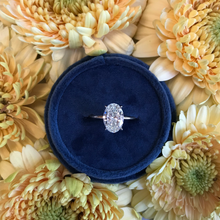 Load image into Gallery viewer, Oval Solitaire Diamond on Dainty Thin Shank