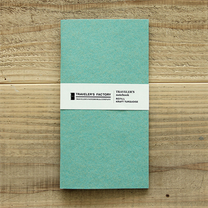 TRAVELER FACTORY Craft Turquoise (07100132) Traveler's Note Refill