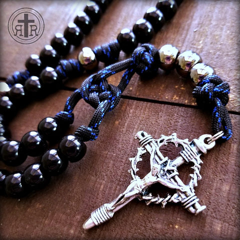 BULK Men in Black Paracord Rosary
