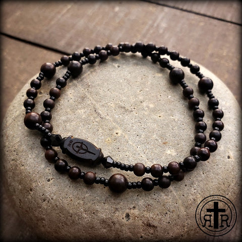 Wood 5-Decade Wrist Rosary