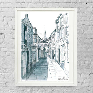 All Saints Lane Limited Edition Giclée Print by Susie Ramsay | The Bristol Shop