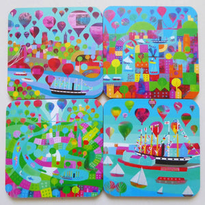 The Bristol Harbour - Pack of 4 Coasters by Jenny Urquhart | The Bristol Shop