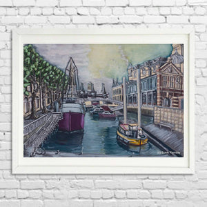 Bristol Harbourside Limited Edition Giclée Print by Susie Ramsay | The Bristol Shop