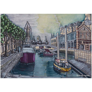 Bristol Harbourside Greetings Card by Susie Ramsay | The Bristol Shop
