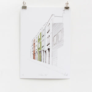 Bristol St Andrews Road A4 Digital Art Print by Rolfe & Wills