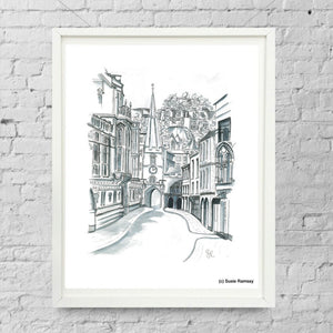 Broad Street Limited Edition Giclée Print by Susie Ramsay | The Bristol Shop