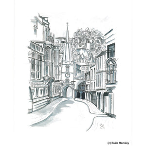 Broad Street Postcard by Susie Ramsay | The Bristol Shop