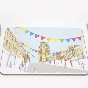 Colourful Park Street Placemat by Rolfe & Wills