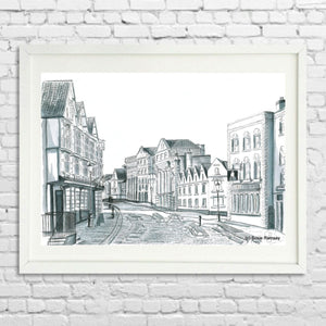 King Street Limited Edition Giclée Print by Susie Ramsay | The Bristol Shop