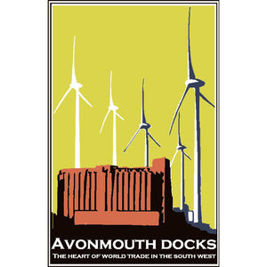 Avonmouth in Yellow, Ltd Edition Screen Print by Abi Murray | The Bristol Shop