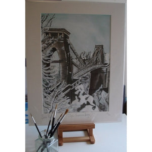 Clifton Suspension Bridge Winter Limited Edition Giclée Print by Susie Ramsay | The Bristol Shop