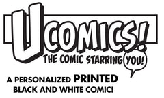 UComic! Personalized Black and White Comic 11x17 Print