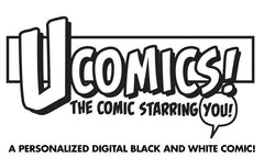 UComic! Personalized DIGITAL ONLY Black and White Comic