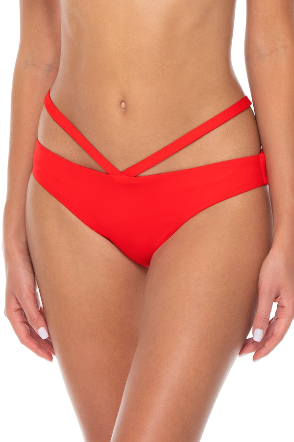 Sunsets Scarlet Stella Strappy Hipster Bottom