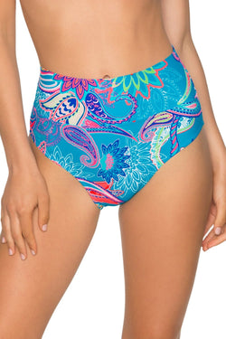 Sunsets Caribbean Breeze Fold Over High Waist Bottom
