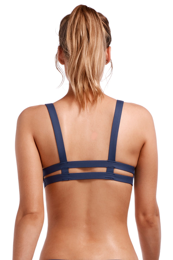 Vitamin A Deep Blue EcoLux™ Neutra Bralette Top