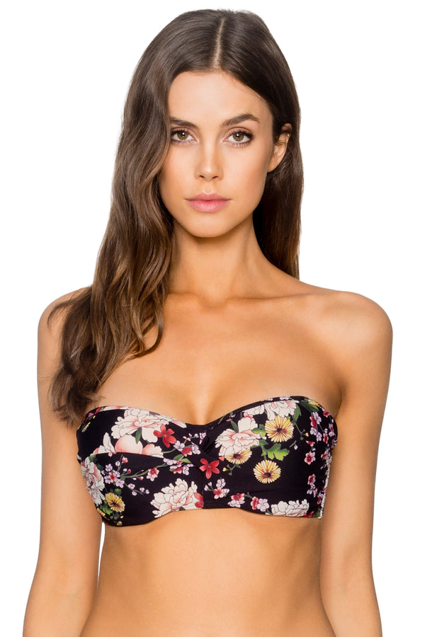 Sunsets Sakura Fields Iconic Twist Underwire D-H Cup Bandeau Top