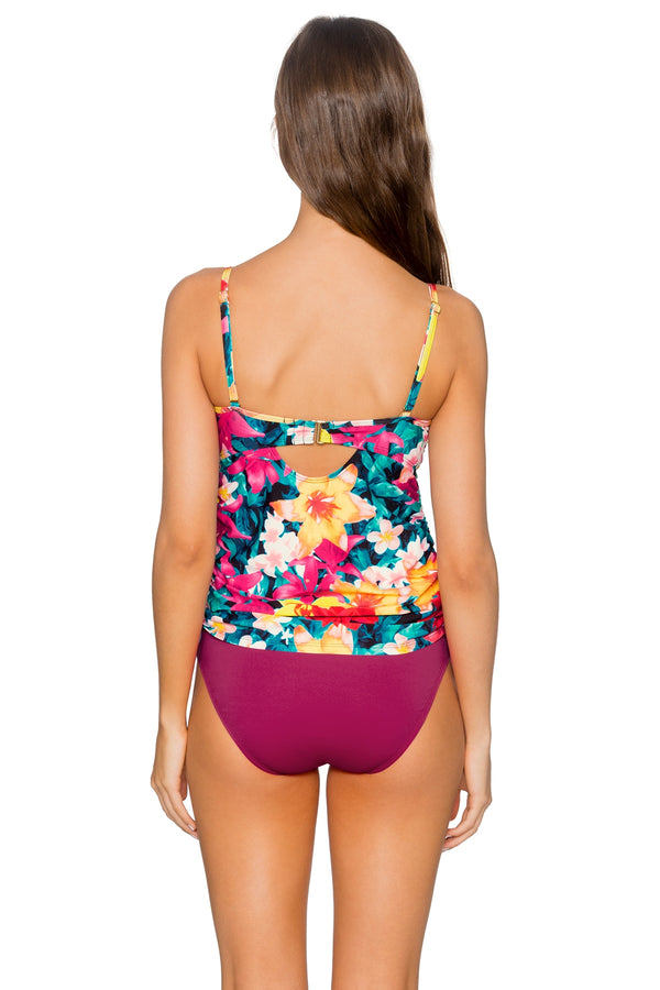 Sunsets Native Blooms Iconic Shirred U/W D/DD Tankini Top