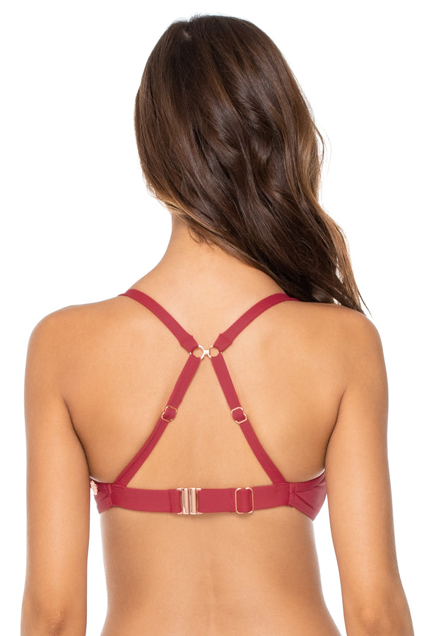 Swim Systems Red Rose Crossroads D/DD Underwire Top