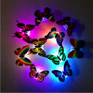 LED Wall Stickers Colorful Butterfly