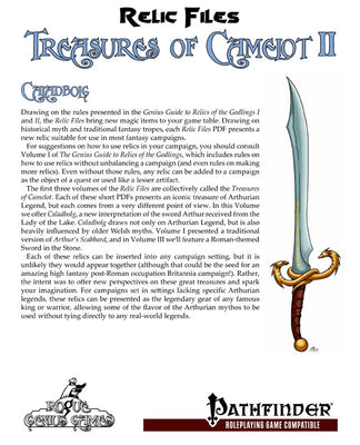 Relic Files: Treasures of Camelot II