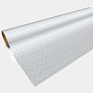 Gaming Paper (30'' wide x 12 feet long) Isometric White RPG Mat Sized for Miniatures (1 roll)