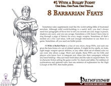 #1 With a Bullet Point: 8 Barbarian Feats