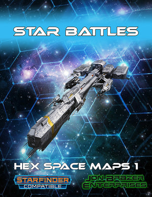 Star Battles: Hex Space Maps 1 (Starfinder RPG)