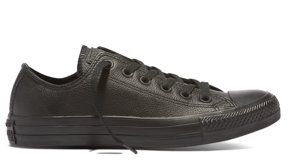 Chuck Taylor All Star Ox Monochrome Leather - black