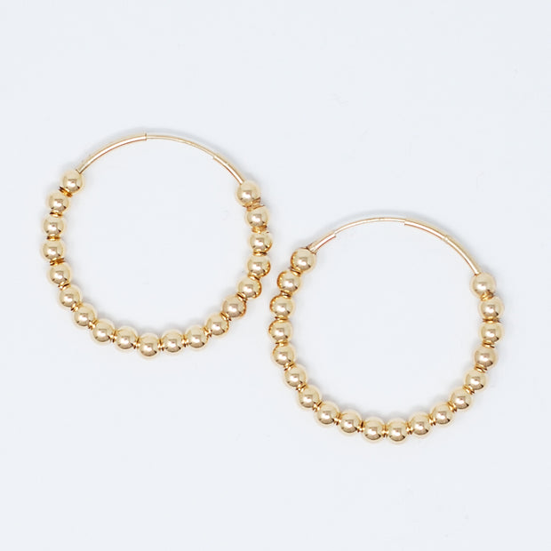 Goldfill Beaded Hoops