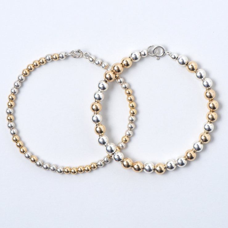 Mixed Metal Bracelet Set
