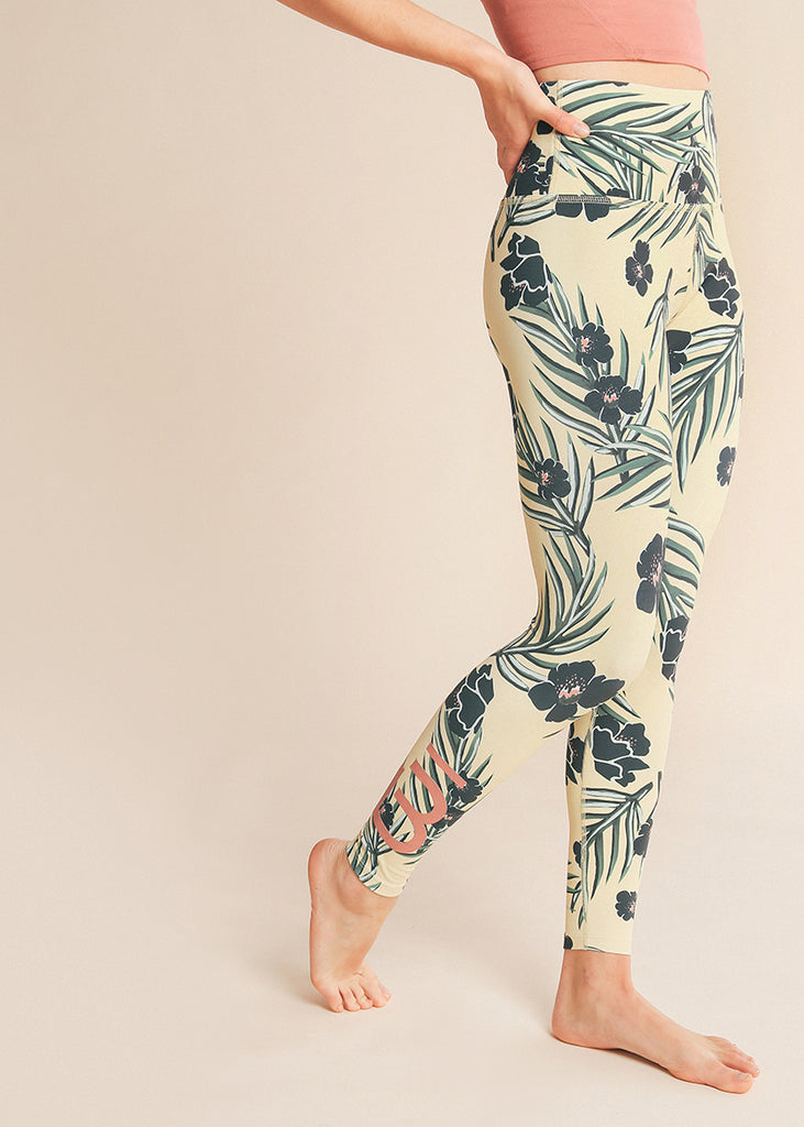 B3 X Beyond Yoga Floral Sunrise High Waisted Midi Legging