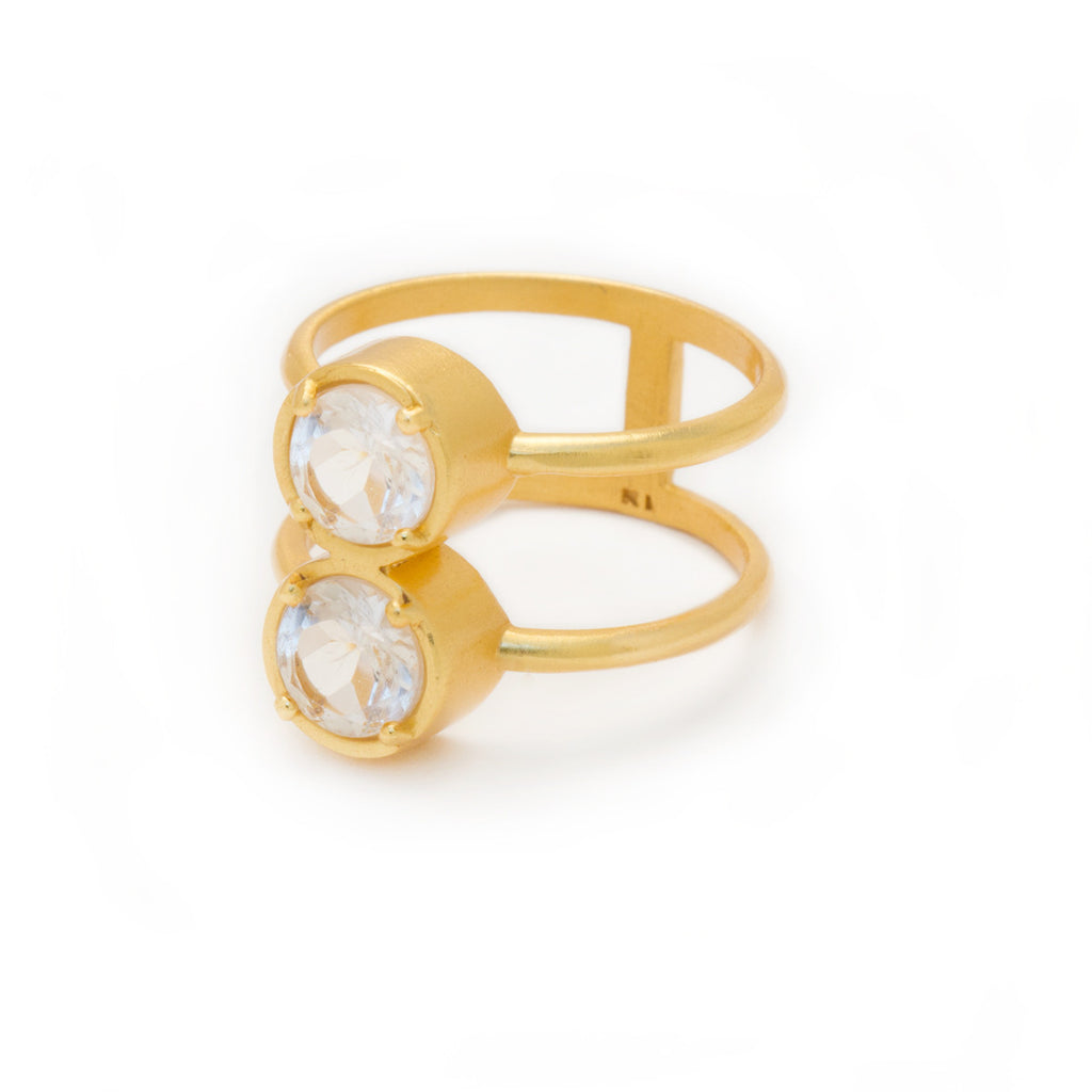 Double Bezel Ring - Kristine Lily jewelry